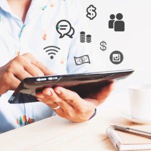 tablette réseaux sociaux